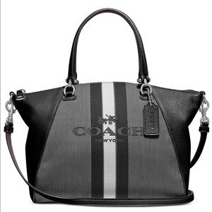 Coach Horse and Carriage Jacquard Prairie Satchel.